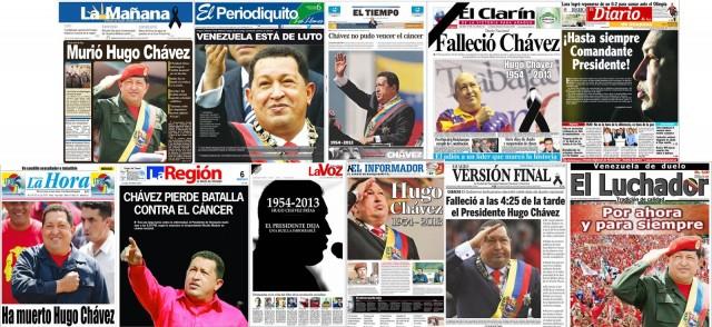 Muerte-Hugo-Chavez-portadas-prensa-venezolana