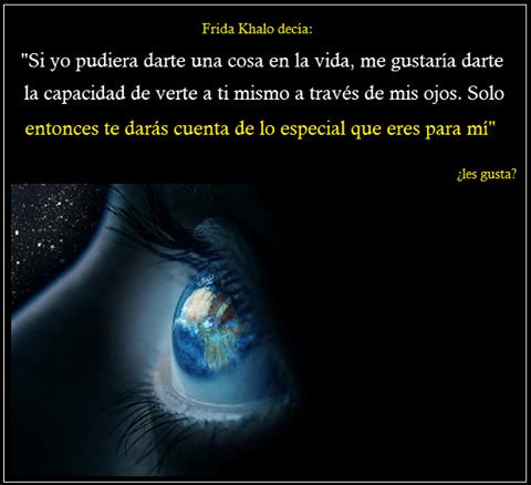 mis ojos a ti
