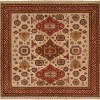 Red Rust Border with Ivory Field area rug 3
