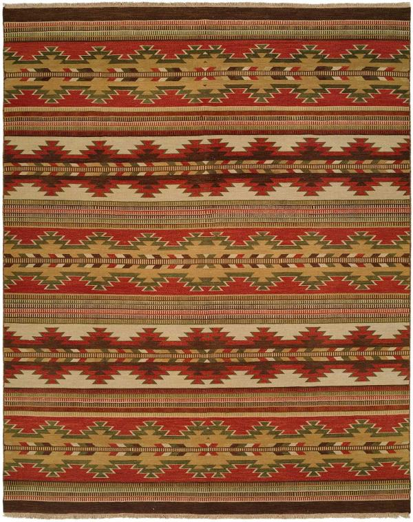 Red and Ivory with Multicolored Accents