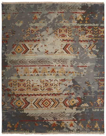 Flat Woven Wool Soumak Rug