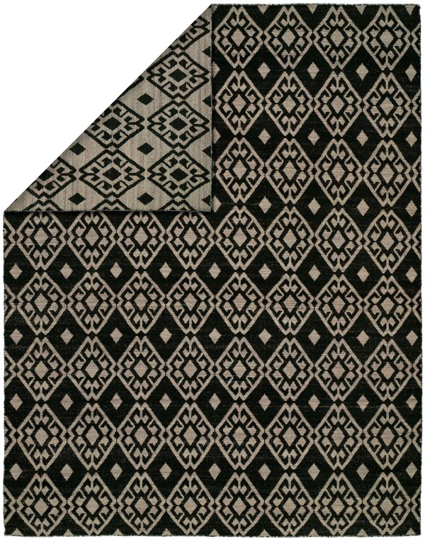 Black and Lilac area rug