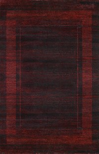 Gabbeh Design in Oxblood Red area rug