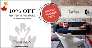 10% off area rugs in November coupon