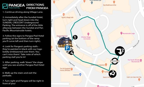 small resolution of parking directions from pangea 1800