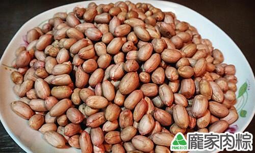 龐家肉粽包粽子的材料雲林北港花生