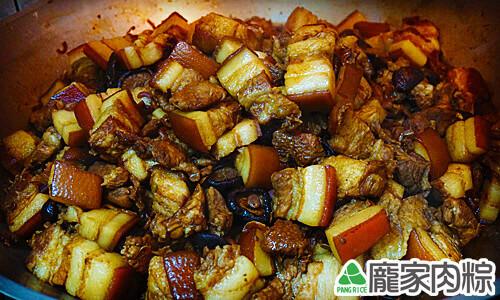 龐家肉粽紅燒燉煮包粽子的材料