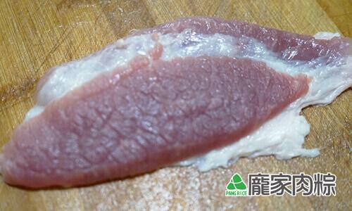 75-07豬肉瘦肉切法-逆紋(端午節包粽子知識推薦)