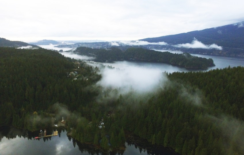 bc drone photography sasamat lake