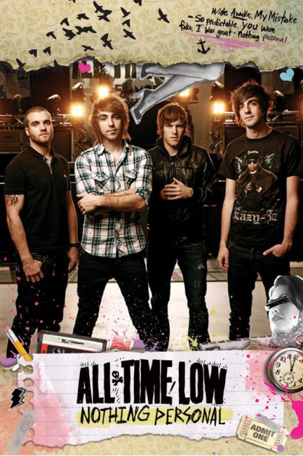all time low nothing personal poster