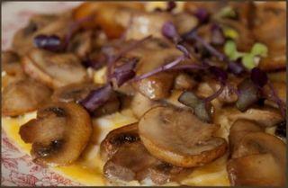 omelette plate aux champignons