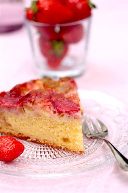 Gâteau Tatin Fraise Rhubarbe 1