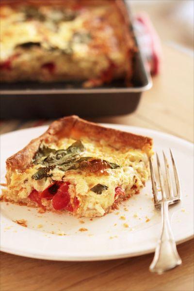Tarte tomates cerises - mozzarella 1