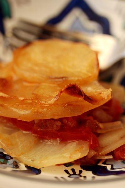 Gratin de tomates et pommes de terre 5