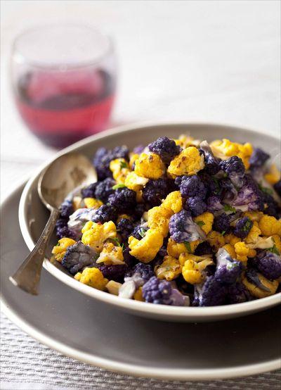 Sauté de choux-fleurs couleurs au zeste de citron et à la fleur de sel 1
