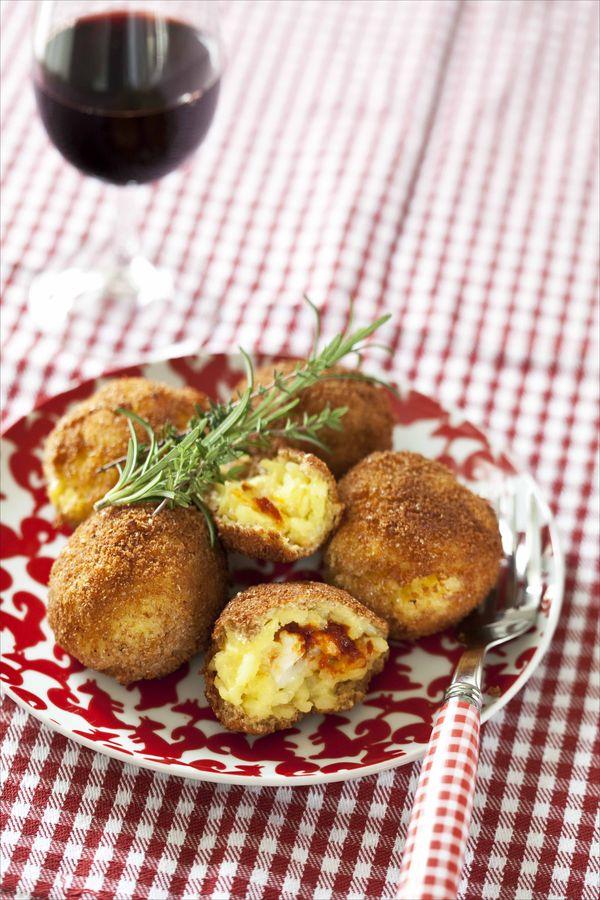 Arrancini au fromage et à la tomate 1