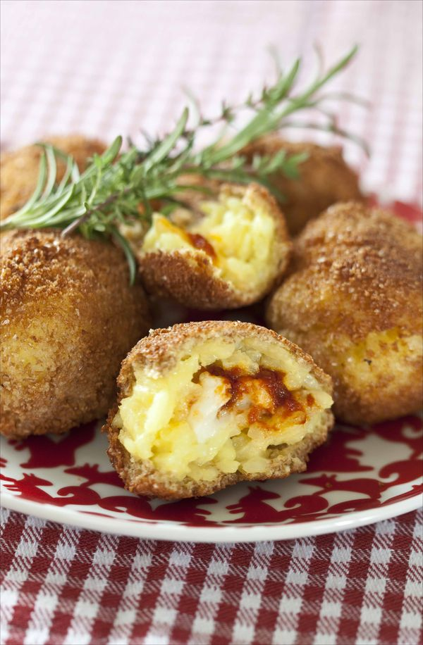 Arrancini au fromage et à la tomate 2