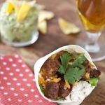 Burritos caliente, aïe, aïe, aïe: burritos sandwichs au poulet pimenté!