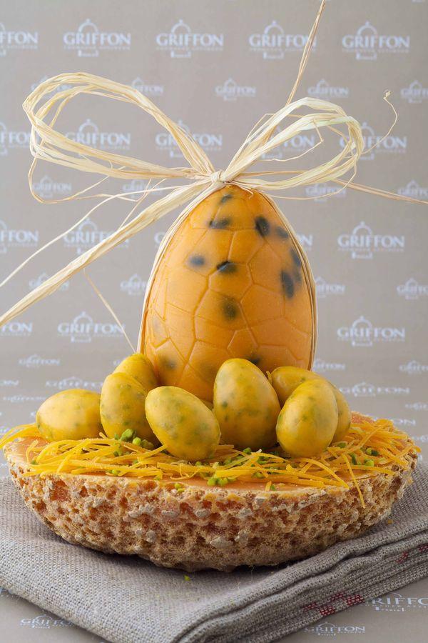 L'oeuf de Pâques 2014 de Claire Griffon, en mimolette extra-vieille et aux pitaches.