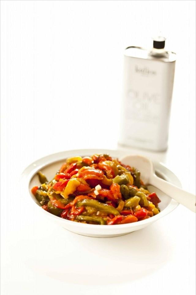 Salade de poivrons à l'ail et à l'huile d'olive 12