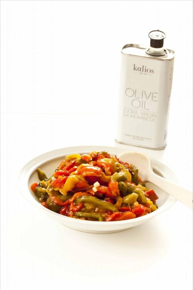 Salade de poivrons à l'ail et à l'huile d'olive Kalios monovariétale