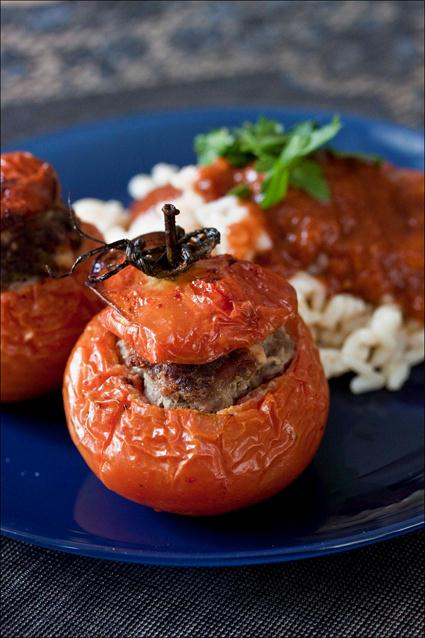 Tomates farcies riz autour gp