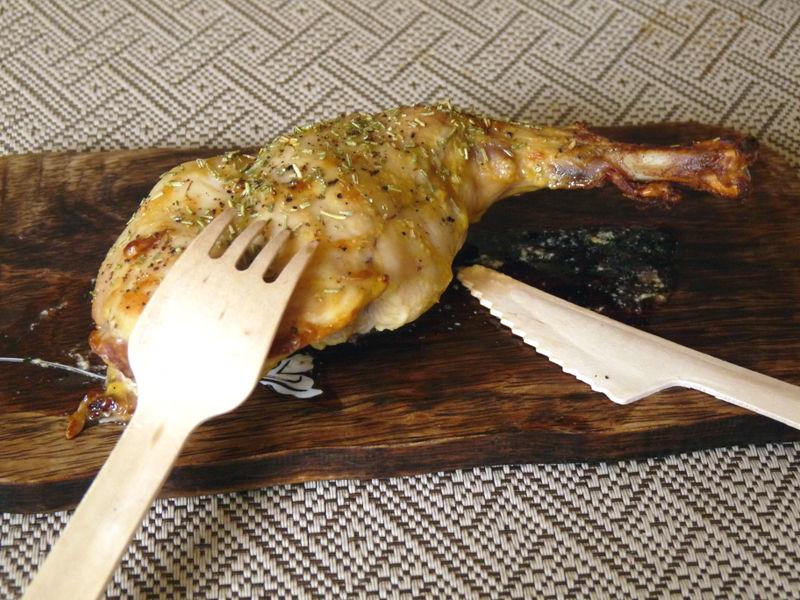 Cuisse de lapin à la moutarde