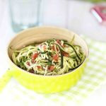 Salade de spaghetti de courgettes sauce chien et des nouvelles de mon régime protéiné méthode Peltriaux
