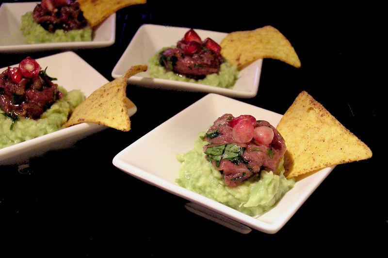 Tartare de boeuf au guacamole