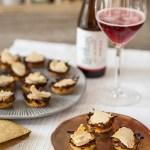 Paniers de pommes de terre Pompadour au foie gras et Liefmans on the rock, quand le foie gras et la bière font la fête!
