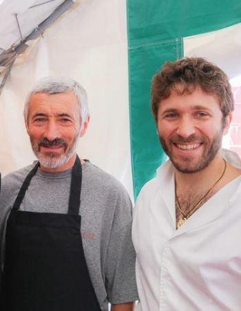 Julien Duboué et son papa à Paris Basque