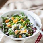 Salade de radis multicolores aux œufs de truite, dîner de famille (2)