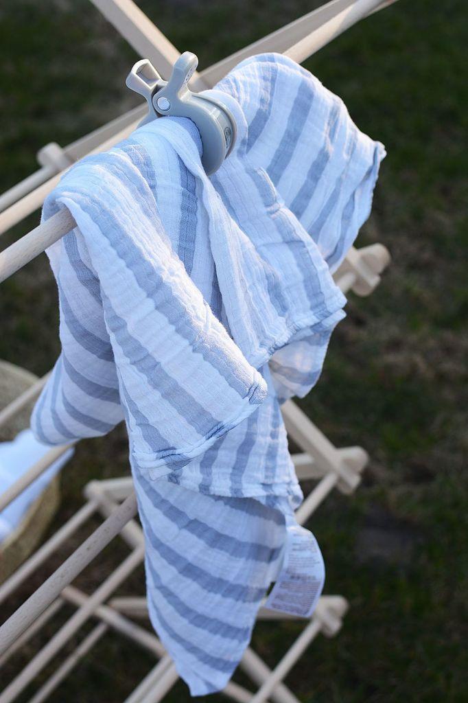Aden Anais pieluszka otulacz muślinowy paski