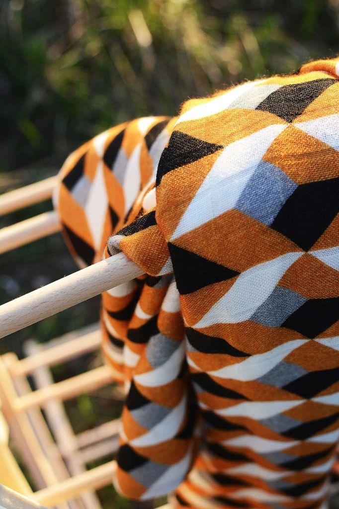 Coodo pieluszka bambusowo muślinowa musztardowa romby