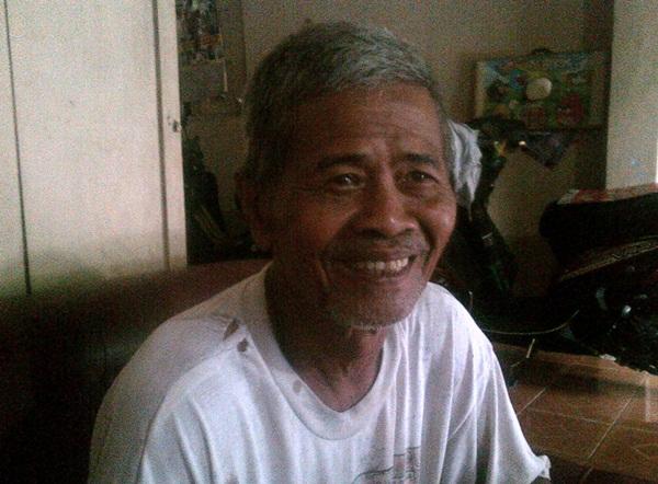 Ketua RT Sumber, Pak Supardi Padi Marsono