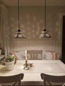Durkslag från IKEA blir lampa