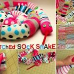 Göra festlig orm av omaka strumpor :)