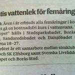 Gratis vattenlek för femåringar i Borås