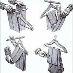 Hänga upp byxor