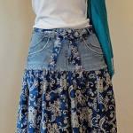 Sy kjol av byxor