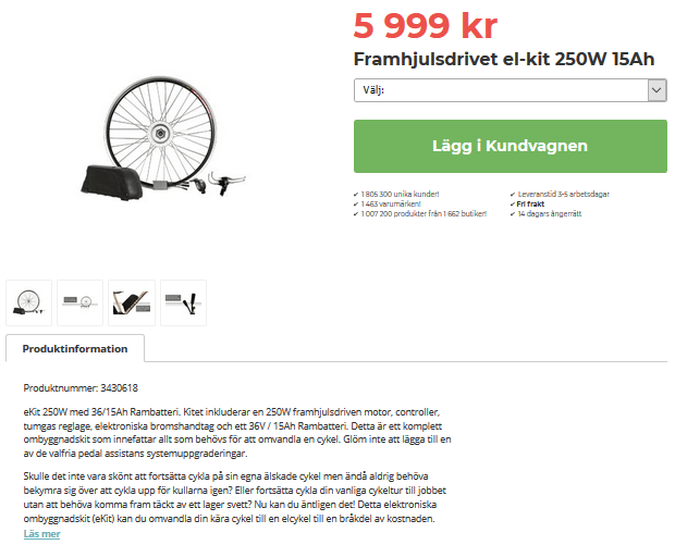 bygga om till elcykel