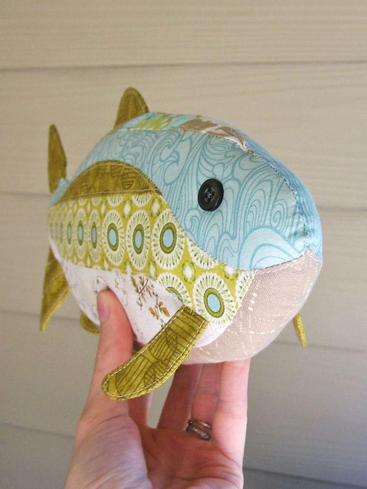 Fiskmotivkudde