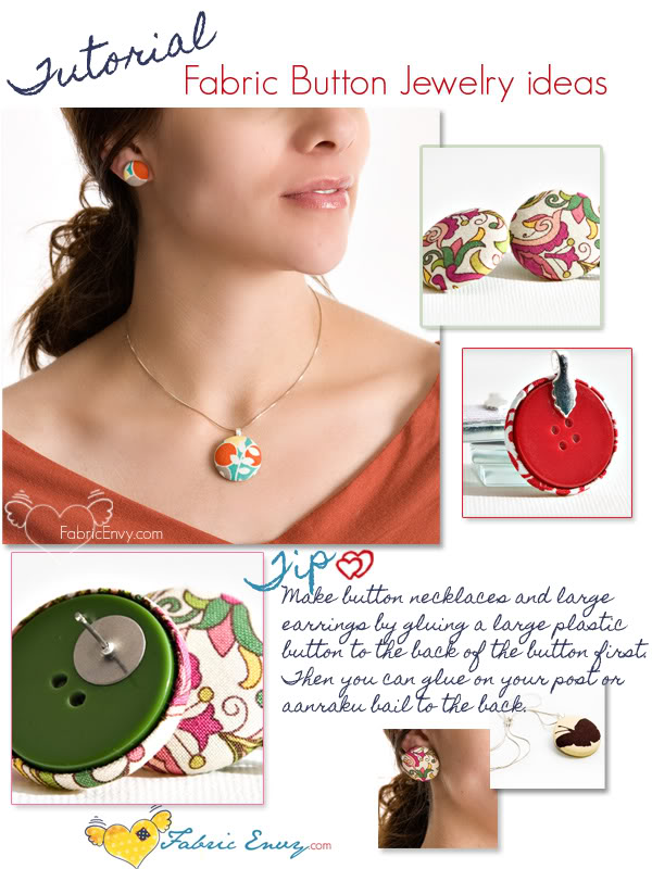 hemmagjorda smycken av knappar