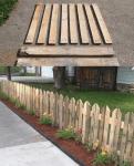 Ta isär pallar och använda till staketbygge