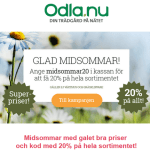 Rabattkod hos Odla.nu