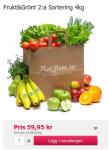 Frukt&grönt andrsortering matkasse! Toppen! Borde alla matkasseleverantörer ta efter!