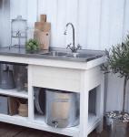 Smart uppsamling av vatten i utekök