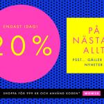 20% rabatt på Boozt.com