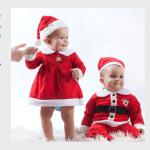 Tomtedräkt till bebis i jul