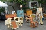 Hämta möbler på Återvinningsstationen